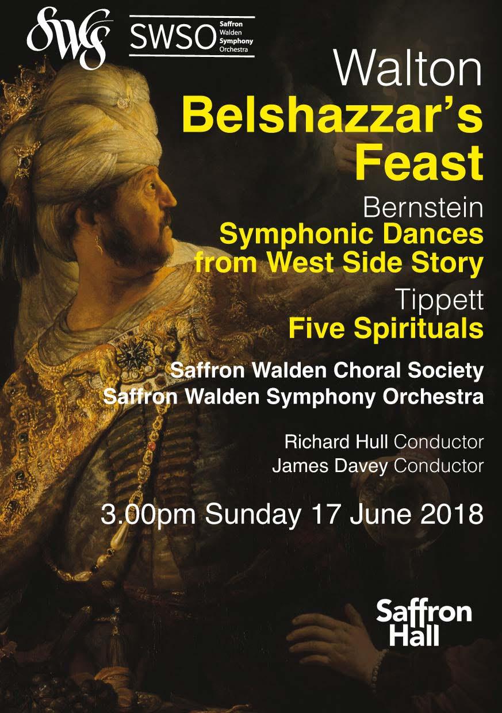 Joint concert with SWCS: Walton's Belshazzar's Feast, June 2018