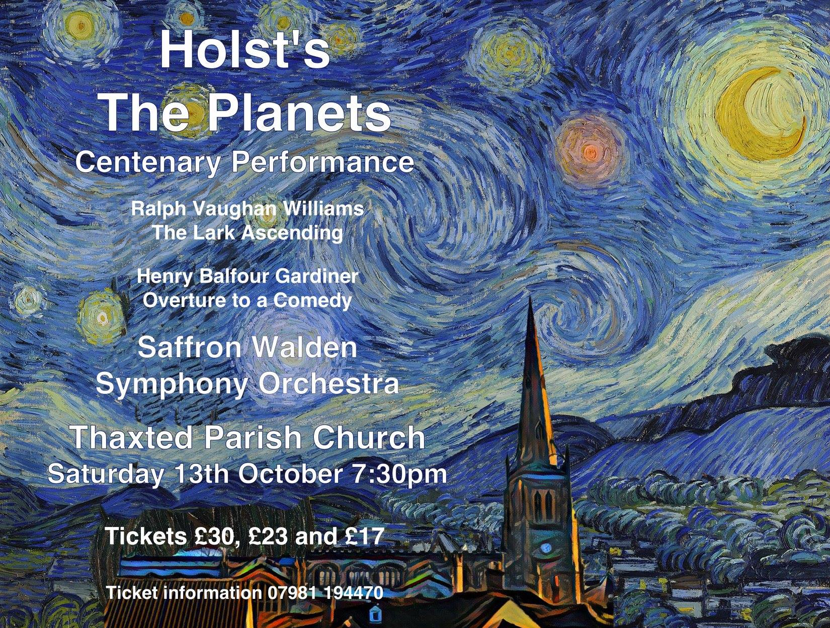 The Planets at Thaxted Church, October 2018
